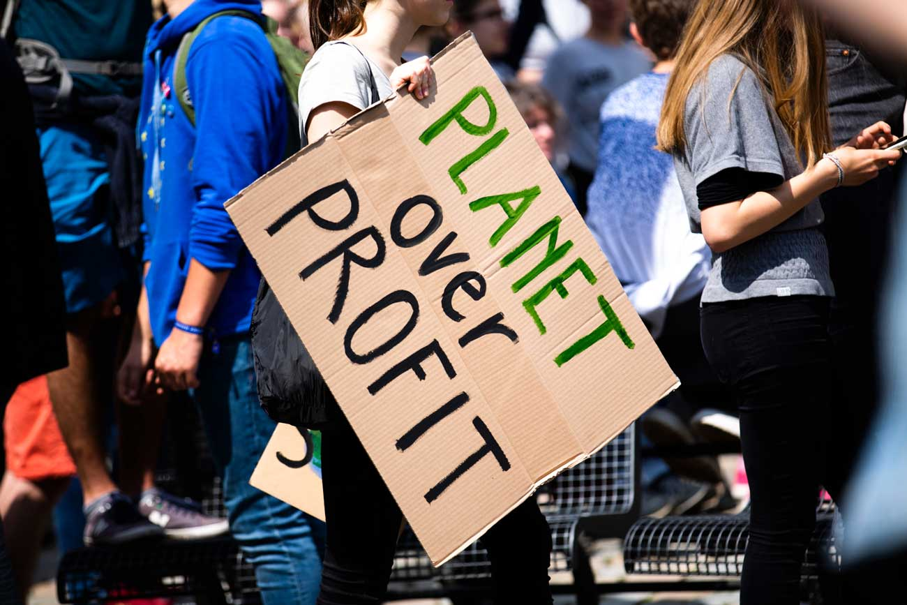 Protest sign that reads